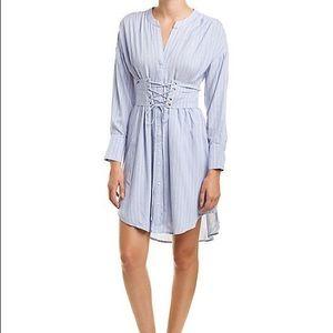 Astr the Label Lace up Shirt Dress